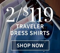 2/$119 Traveler Dress Shirts