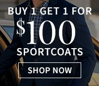 Buy 1 Get 1 for $100 Sportcoats