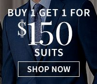 Buy 1 Get 1 for $150 Suits
