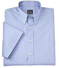 Traveler S/S Buttondown Patterned Poplin Sportshirt Big and Tall