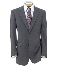 Executive 2-Button Wool Suit with Plain Front Trousers- Cambridge Grey