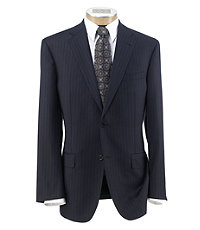 Signature Gold 2-Button Pleated Wool Suit Extended Sizes
