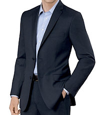 Crossover Slim Fit 2-Button Suit with Plain Front Trousers