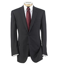 Signature Platinum Wool 2-Button Suit with Pleated Trousers
