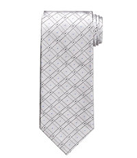 Signature Platinum Grid with Dots Tie