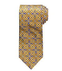 "Signature Gold Feather Medallion Tie 61"" Long"