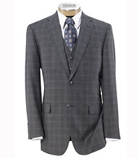 Joseph 2 Button Wool Vested Suit with Pleated Trousers - Sizes 44 X-Long-52