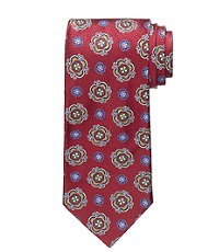 Signature Gold Two-Figure Medallion Tie