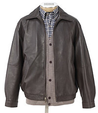 Executive Leather Bomber Jacket