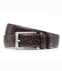 Soft Collection Moc Croc Dress Belt Extended Size