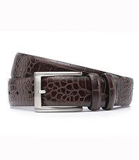Soft Collection Moc Croc Dress Belt Extended Size