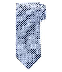 White Grid Tie