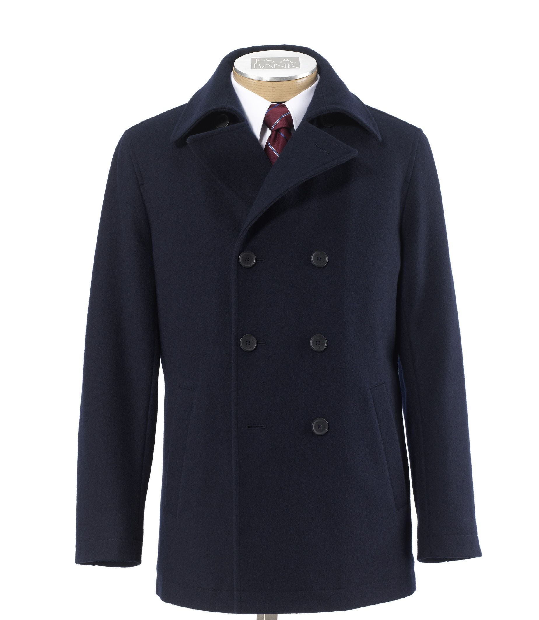 Jos a bank men 39 s factory store peacoat jacket for Jos a bank shirt review