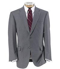 Signature Gold 2-Button Centocinquanta Superfine 150's Wool Suit- Light Grey Striped