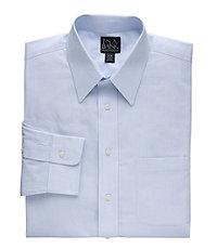 Traveler Point Collar Slim Fit Patterned Dress Shirt