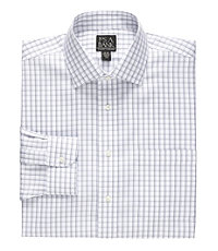 Traveler Spread Collar Pattern Dress Shirt