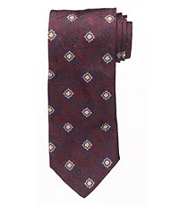 Signature Tapestry with Neat Flower Long Tie