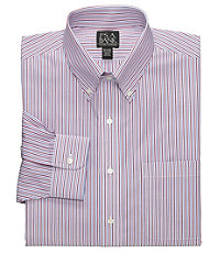 Traveler Slim Fit Long-Sleeve Button-Down Dress Shirt