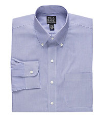 Traveler Slim Fit Stripe Buttondown Dress Shirt