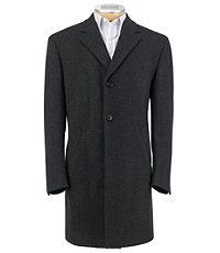 3/4 Traveler Tailored Fit Plaid Topcoat