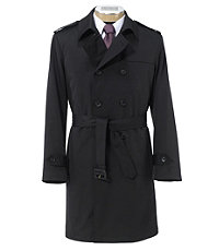 Traveler Tailored Fit Double Breasted Three-Quarter Length Raincoat