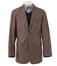 Signature Leather Blazer Extended Sizes