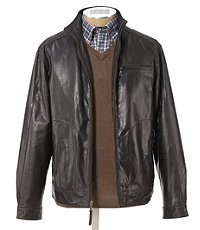 VIP Roadster Leather Jacket Big and Tall Sizes