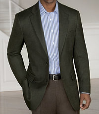 Signature Tailored Fit Textured 2-Button Sportcoat - Sizes 44 X-Long-52