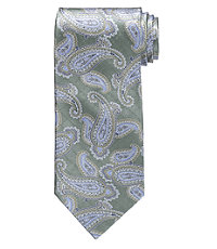 Satin Dress Paisley Tie