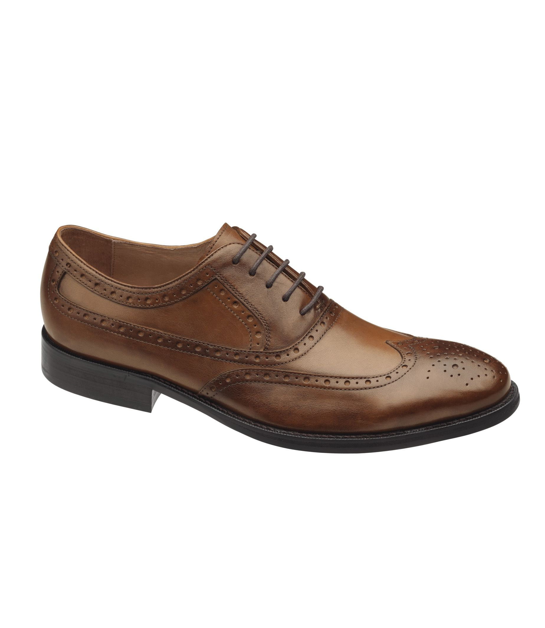 Tyndall Wing Tip Shoe by Johnston & Murphy- Traditional 1920s Styling