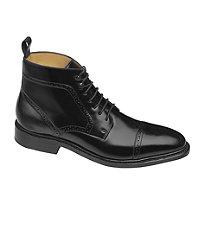 Hutchins Cap Toe Boot by Johnston  Murphy $295.00 AT vintagedancer.com