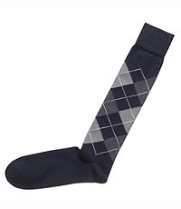 Dress Argyle Over The Calf Socks