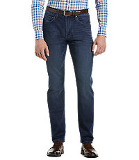 Joseph Abboud Traditional Fit Denim Knit Jeans