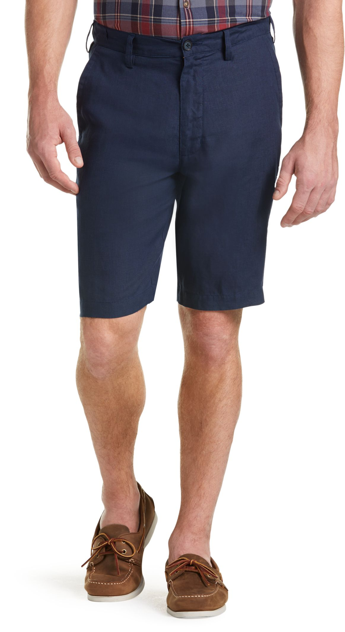 Joseph Abboud Tailored Fit Linen Shorts