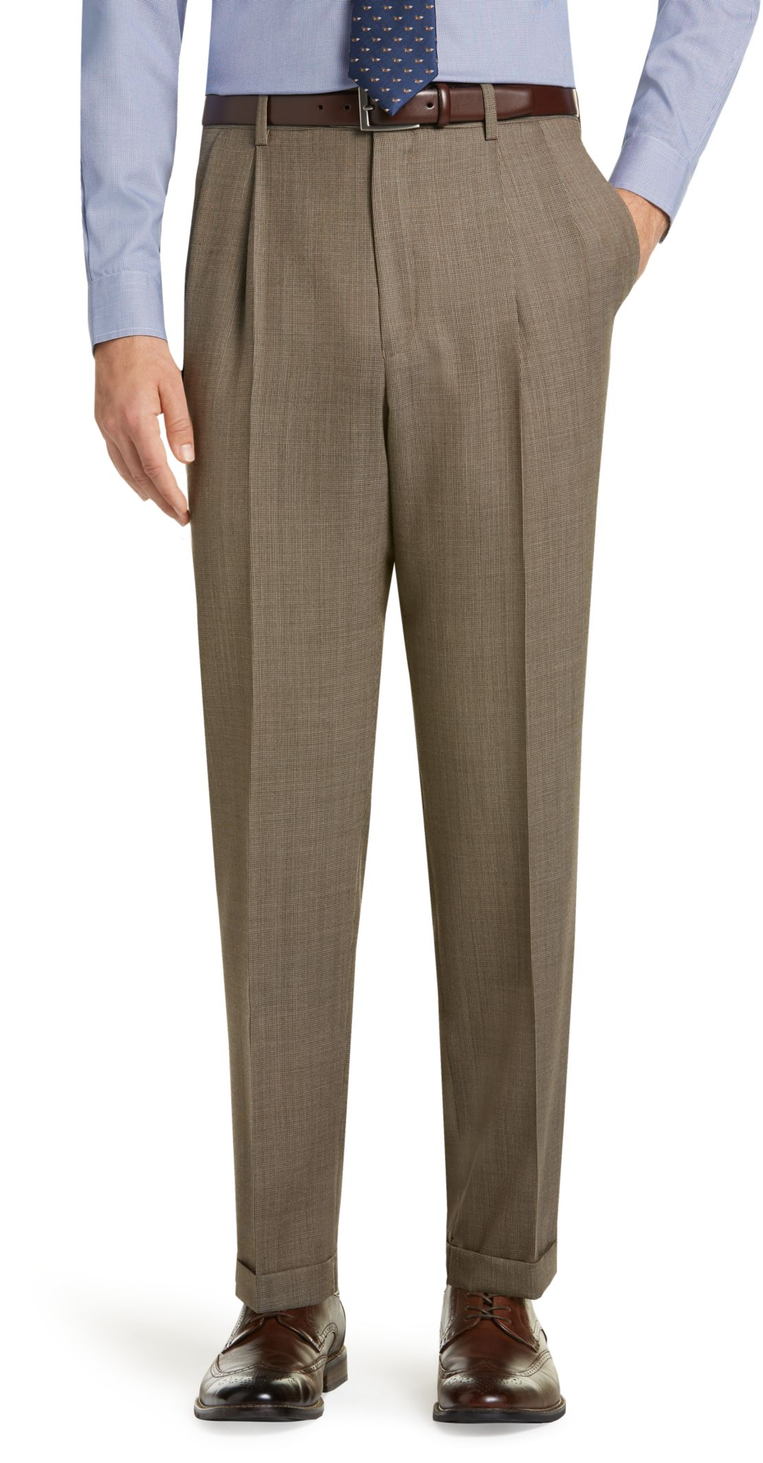 What Color Slacks With Brown Shoes