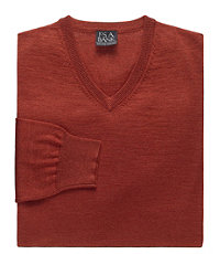 Executive Merino Wool V-Neck Sweater