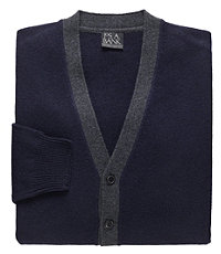 Lambswool Colorblock Cardigan Sweater