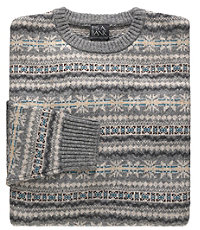 Fair Isle Crewneck Lambswool Sweater