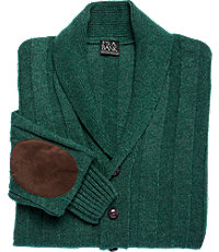 Men's Vintage Style Sweaters – 1920s to 1960s Executive Collection Lambswool Heather Shawl Collar Cardigan Mens Sweater - X Large Burgundy $150.00 AT vintagedancer.com