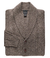 Lambswool Shawl Collar Cardigan Sweater