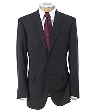 Joseph Slim Fit 2 Button Plain Front Wool Suit Extended Sizes- Charcoal Faille Solid
