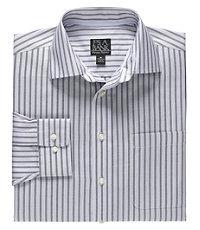 Signature Long-Sleeve Wrinkle-Free Cotton Spreadcollar Sportshirt