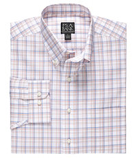 Traveler Tailored Fit Long-Sleeve ButtonDown Collar Sportshirt