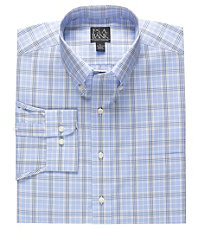 Traveler Long-Sleeve Buttondown Pattern Sportshirt Big/Tall