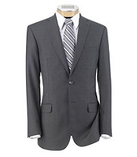 Joseph Slim Fit 2-Button Suits with Plain Front Trousers Extended Sizes- Cambridge Faille Solid