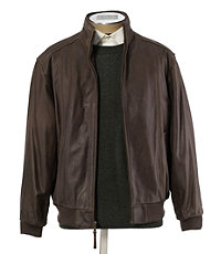 VIP Vintage Leather Bomber Jacket Big/Tall