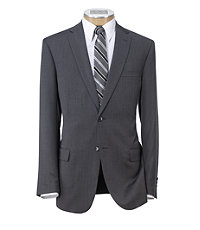Traveler Slim Fit 2-Button Suit with Plain Front Trousers - Extended Sizes