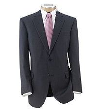 Signature Imperial Wool/Silk Suit with Pleated Trousers- Blue Grey