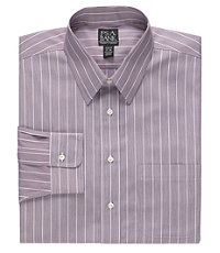 Traveler Wrinkle-Free Point Collar Slim Fit Dress Shirt