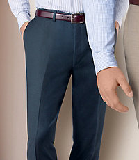 NEW Traveler Tailored Fit Plain Front Trousers Extended Sizes
